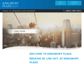 kingsburyplaza.securecafe.com screenshot