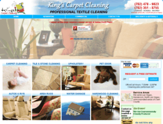 kingscarpetcleaninglv.com screenshot