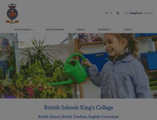 kingscollege.es screenshot