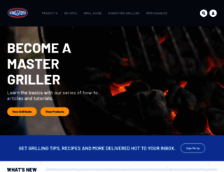 kingsford.com screenshot