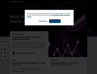 kingsfund.org.uk screenshot