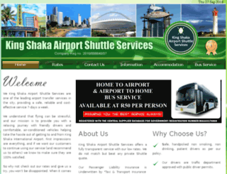 kingshakashuttles.co.za screenshot