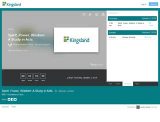 kingsland.churchonline.org screenshot