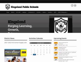kingsland.k12.mn.us screenshot