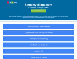 kingsleyvillage.com screenshot