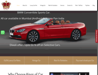 kingsofcarhire.in screenshot