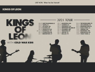 kingsofleon.com screenshot