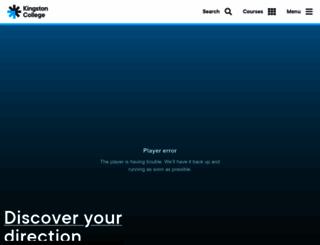 kingston-college.ac.uk screenshot