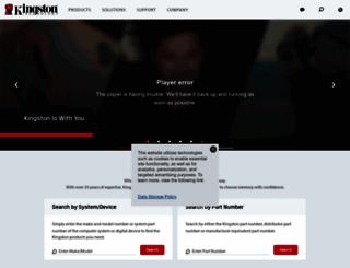 kingston.com screenshot