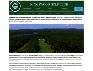 kingswoodgolfclub.com screenshot