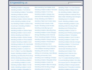 kingwedding.us screenshot