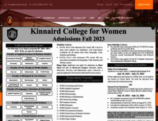 kinnaird.edu.pk screenshot