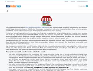 kiosonlineshop.com screenshot