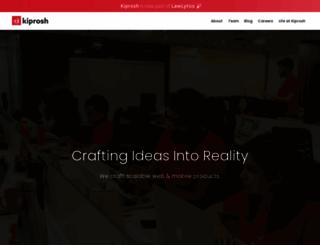kiprosh.com screenshot