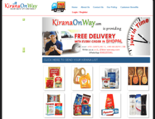kiranaonway.com screenshot