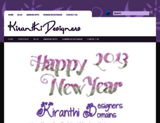 kiranthidesigners.com screenshot