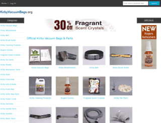 kirbyvacuumbags.org screenshot