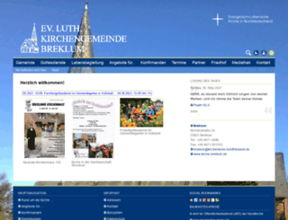 kirche-breklum.de screenshot