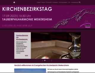 kirchenbezirk-weikersheim.de screenshot