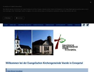 kirchengemeinde-voerde.de screenshot