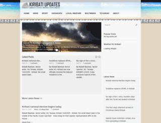 kiribatiupdates.com.ki screenshot