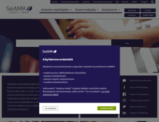 kirjasto.seamk.fi screenshot