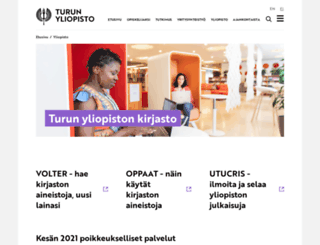 kirjasto.utu.fi screenshot