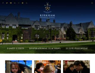 kirkhamgrammar.co.uk screenshot