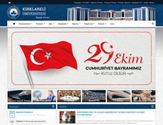 kirklareli.edu.tr screenshot