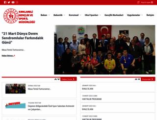 kirklareli.gsb.gov.tr screenshot