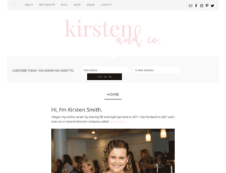 kirstenandco.com screenshot