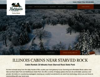 kishauwaucabins.com screenshot