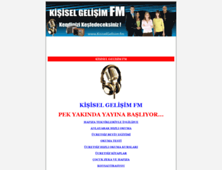 kisiselgelisim.fm screenshot