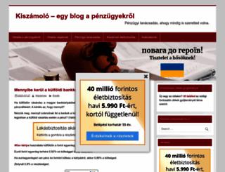 kiszamolo.hu screenshot