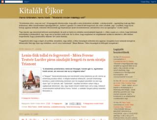 kitalaltujkor.blogspot.hu screenshot
