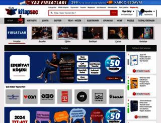 kitapsec.com screenshot