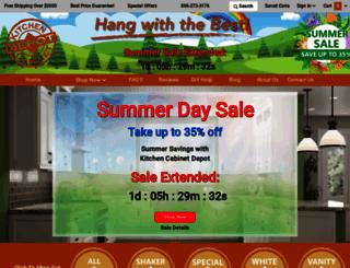 kitchencabinetdepot.com screenshot
