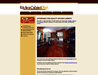 kitchencabinetmart.com screenshot