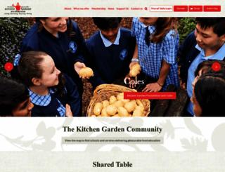 kitchengardenfoundation.org.au screenshot