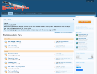 kitchenknifefora.com screenshot