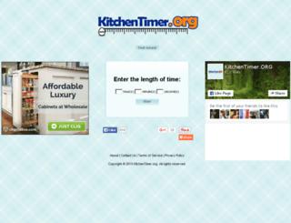 kitchentimer.org screenshot