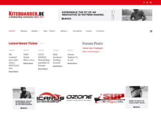 kiteboard.be screenshot