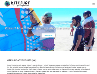 kitesurfadventures.com.pt screenshot