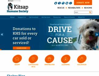 kitsap-humane.org screenshot
