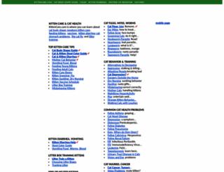 kittencare.com screenshot