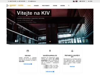 kiv.zcu.cz screenshot