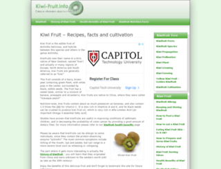kiwi-fruit.info screenshot