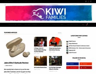 kiwifamilies.co.nz screenshot