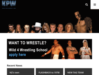 kiwiprowrestling.co.nz screenshot