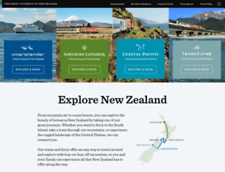 kiwirailscenic.co.nz screenshot